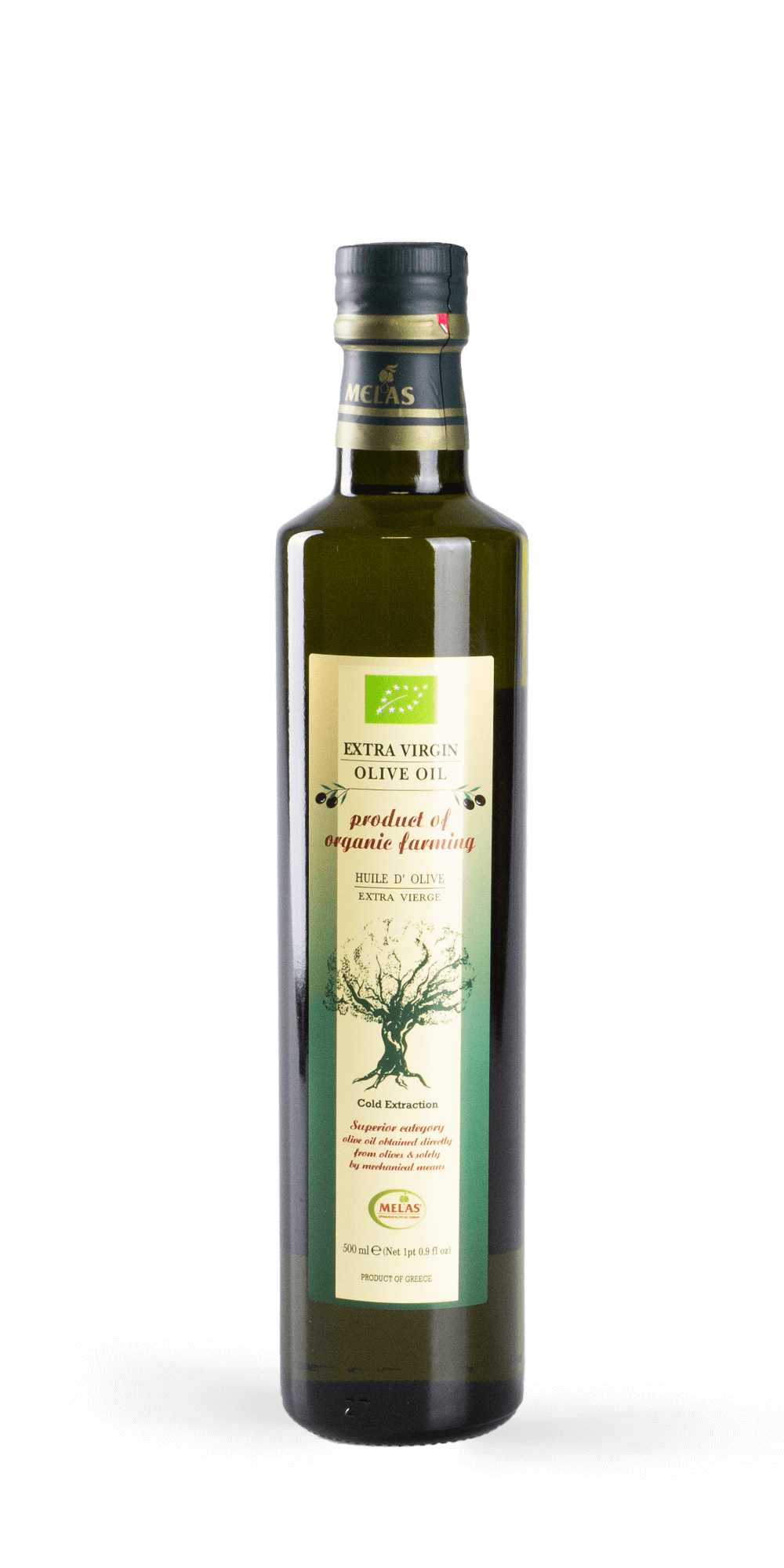 Melas Olivenöl BIO 0,5 l